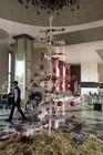 Kerstboom in de receptie