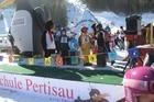 Kinderen vermaken zich prima bij de skischool