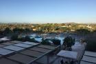 Uitzicht vanaf hotelkamer kant zwembad