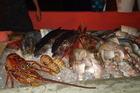 Vrijdags vismarkt bij Cabana Beach.