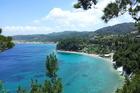uitzicht op de baai van Lemonakia