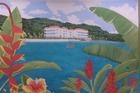 schilderij van het hotel
