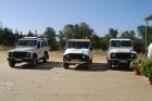 Jeeps waarmee met de jeepsafari in rondgescheurd wordt...erg leuk!!