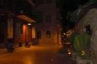 Straatje bij het hotel