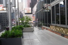 terras bij het hotel