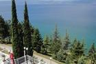 uitzicht over het meer vanaf het restaurant