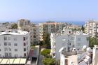 uitzicht vanuit appartement/ balkon
