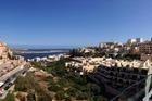 uitzicht vanaf het dakterras over het dorp