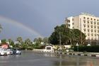 Prachtig om de regenboog te zien!
