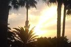 zonsopgang vanaf het balkon