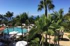 Uitzicht vanaf ons ruime balkon