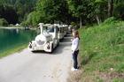 """""""n rondrit met het boemeltje om het meer van Bled"""