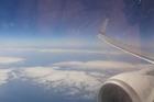 Uitzicht tijdens de vlucht