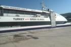 de catamaran naar Kos