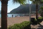 strand vanaf de boulevard gezien
