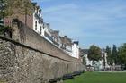 Stadsmuur aan de Maas boulevard .