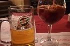 bier en sangria.. lekker hoor