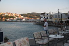 Uitzicht baai vanaf terras Bar Cavos