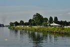 Het was druk op de camping in het zicht van Maastricht .